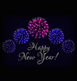 happy new year greeting card template with text vector image