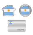 Home icon on the Argentina flag