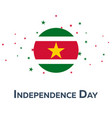 independence day of suriname patriotic banner vector image