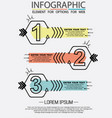 infographic of three simple style options vector image vector image