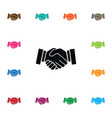 isolated handshake icon meeting element vector image vector image