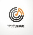 logo design idea for music store or vinyl records vector image vector image
