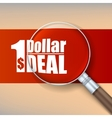 Magnifier selling banner vector image vector image