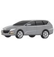 modern grey minivan family car vector image vector image
