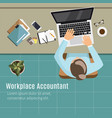 modern workplace vector image