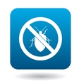 No bug sign icon in simple style vector image vector image