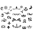 Ornamental design elements vector image vector image