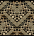 ornate gold 3d geometric seamless pattern vector image