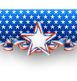 Patriotic background with star vector image vector image