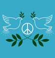 peace vintage and retro typographic design vector image vector image