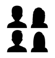 People profile graphic vector image vector image