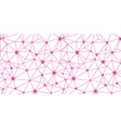 pink stars network seamless pattern vector image