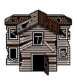 pixel art old abandoned house isolated vector image vector image
