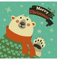 Polar bear says hello vector image