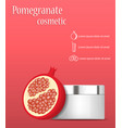 pomegranate cosmetic concept background realistic vector image