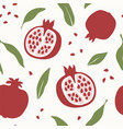 pomegranate design abstract seamless pattern vector image vector image
