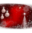 red christmas background with white balls and vector image vector image