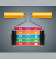 roller paint icon business infographics vector image