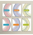 Round color lines on a white background vector image vector image