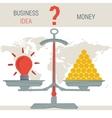 scales - idea or money vector image vector image