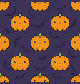 seamless halloween pattern background vector image vector image