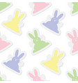 seamless pastel colors bunnies vector image vector image