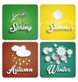 Seasons flat design vector image vector image