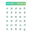 set of 30 line icons investment vector image vector image