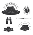 set of logos for a hike vector image vector image
