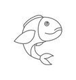 sketch silhouette of bass fish vector image vector image