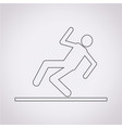 slippery floor sign icon vector image