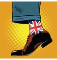 Stylish hipster socks with the British flag vector image