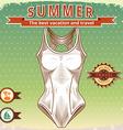 Summer vintage poster vector image vector image