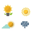 Sun solar energy set vector image vector image