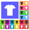 t-shirt sign icon clothes symbol rounded squares vector image vector image