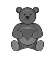 Toy bear icon black monochrome style vector image vector image