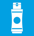 tube of cream or gel icon white vector image vector image