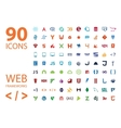 Web development framework icon set vector image vector image