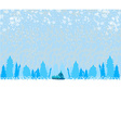 winter landscape - vector image vector image