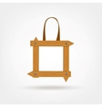 Wooden Boards Shopping Bag vector image vector image