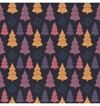Abstract Color Christmas tree seamless pattern vector image