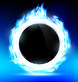 The ring burns blue flame vector image