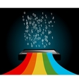 digital rainbow vector image