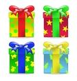 gift box set vector image
