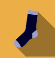 flat design colorful socks icon on yellow vector image
