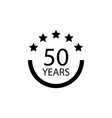 50 years anniversary sign element of anniversary vector image vector image