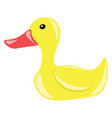 a children play toy of rubber duck or color vector image