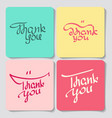 a set of thank you lettering vector image vector image