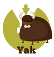 ABC Cartoon Yak vector image vector image