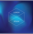 abstract blue gradient blurs vector image vector image